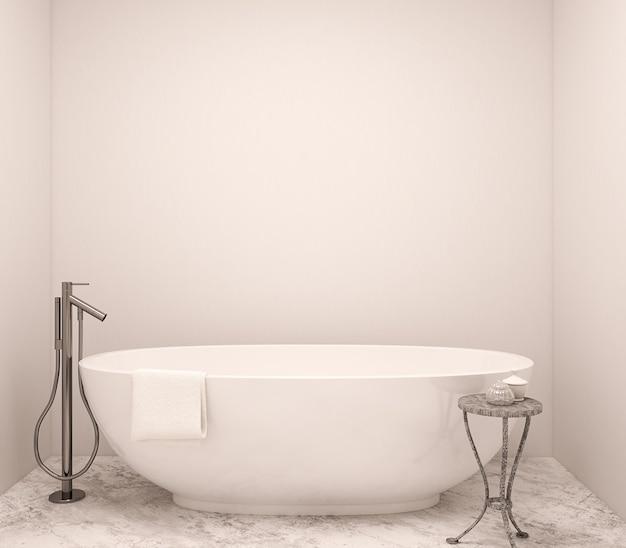 Interno del bagno moderno. rendering 3d.