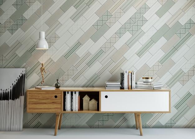 Interno di un ufficio moderno con design a parete