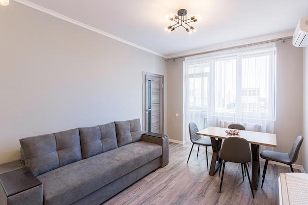 Foto di interni di un soggiorno in stile moderno