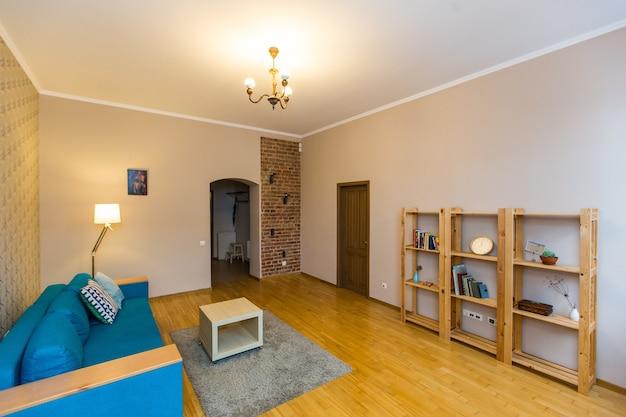 Foto di interni di una stanza in stile loft moderno