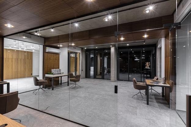 Centro ufficio moderno ed elegante di fotografia di interni