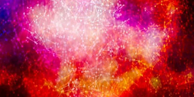 Connessione a internet, senso astratto della scienza e della tecnologia dello sfondo del design grafico.