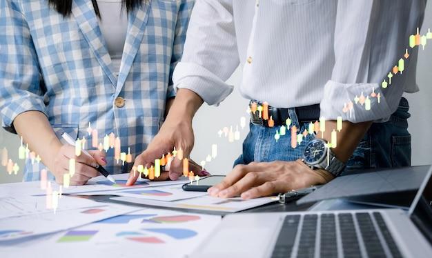 Grafico del concetto di business e tecnologia di investimento