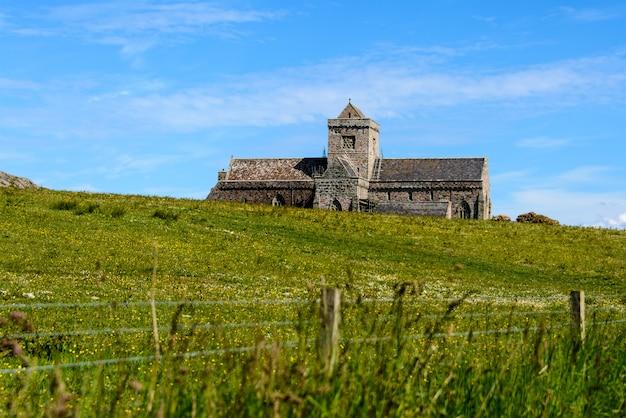 Iona abbey sull'isola di iona, in scozia, regno unito.