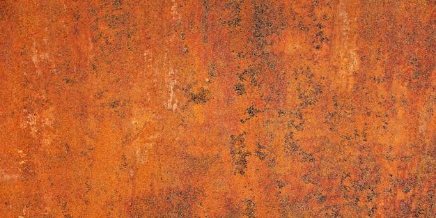 Muro di ferro con ruggine. sfondo per il design. superficie della trama.