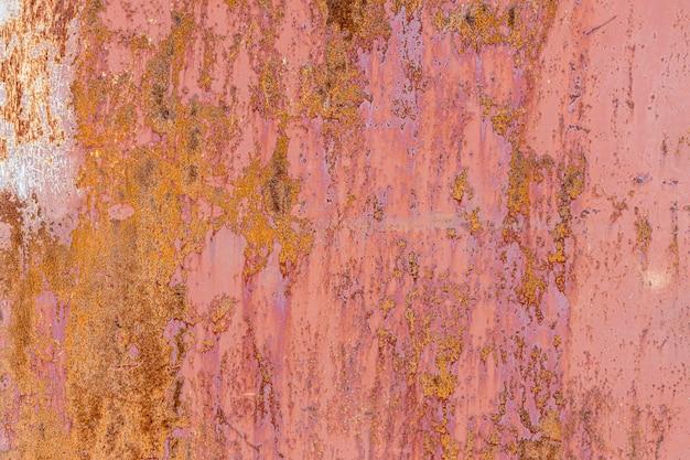 Muro di ferro con ruggine. superficie strutturata rossa. foto di alta qualità