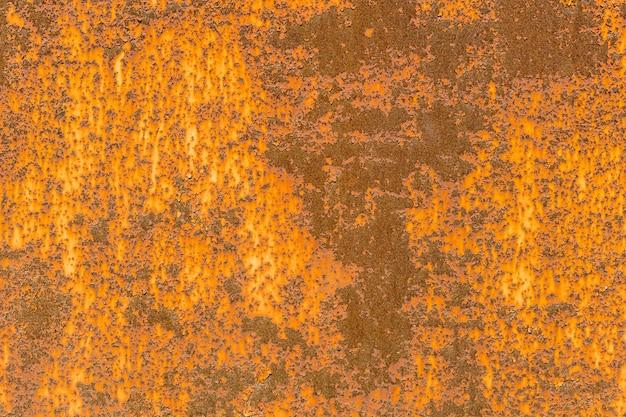 Muro di ferro con ruggine. piastra in acciaio con corrosione. vecchia superficie metallica. foto di alta qualità