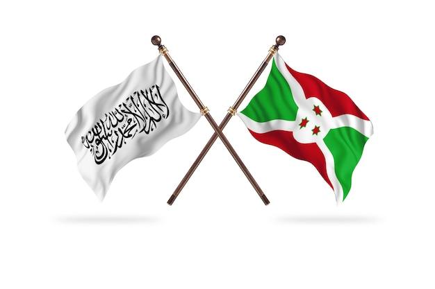 Emirato islamico dell'afghanistan contro il burundi due bandiere sfondo