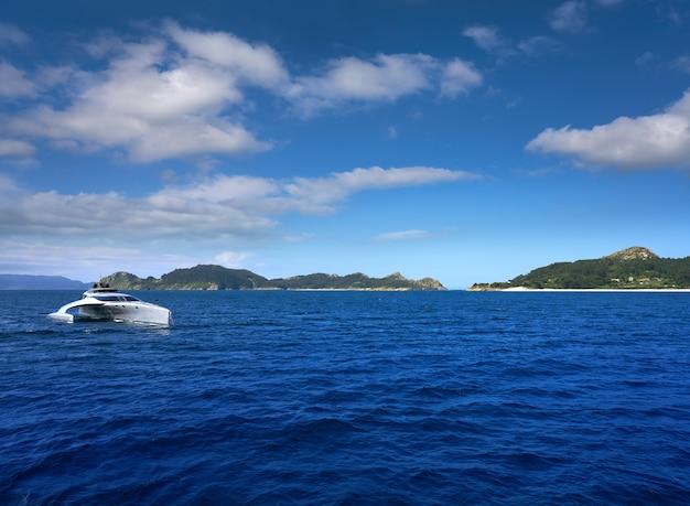 Isole di islas cies vicino a vigo galizia spagna
