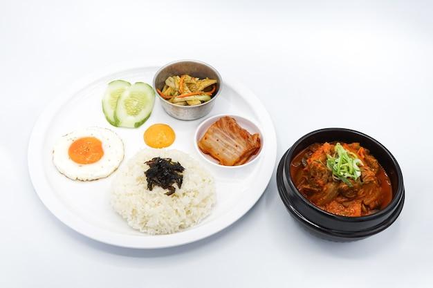 Asiatico isolato - insieme del pranzo dell'alimento della corea