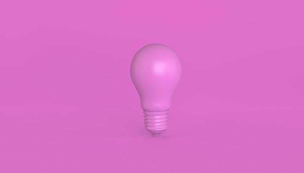 Lampadina verde isolata. concetto di idea. illustrazione 3d.