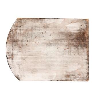 Vecchio tagliere di legno isolato