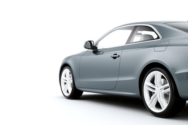 Automobile sportiva isolata su una superficie bianca