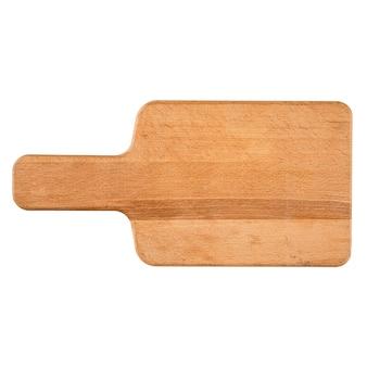 Tagliere in legno isolato su sfondo bianco