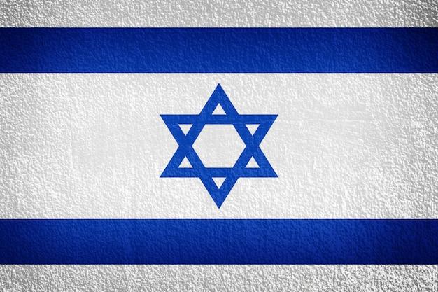 Bandiera di israele sul muro