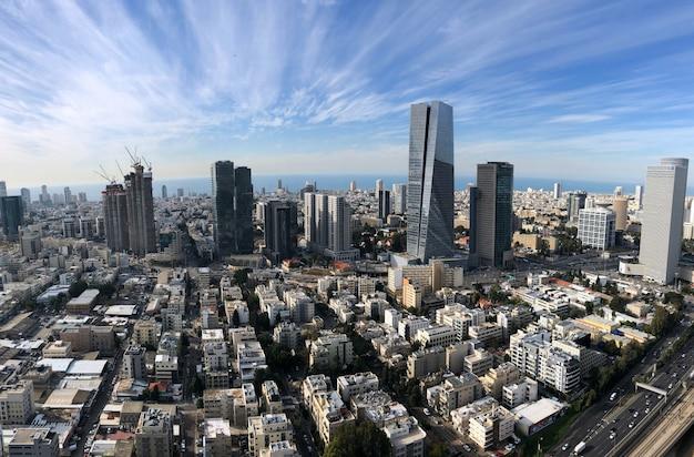 Israele, vista di tel aviv dall'alto.