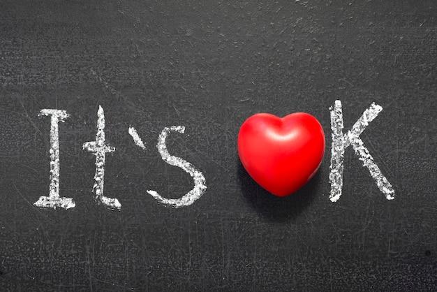 È ok una frase scritta a mano sulla lavagna con il simbolo del cuore rosso