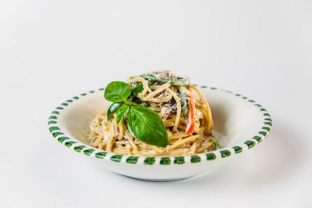 Cucina italiana piatto di spaghetti