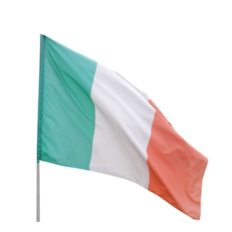 Bandiera italiana isolata