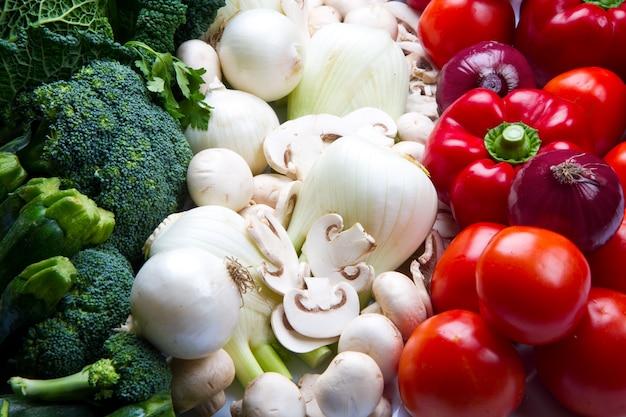 Bandiera italiana con verdure