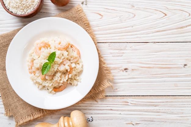 Risotto italiano con gamberetti