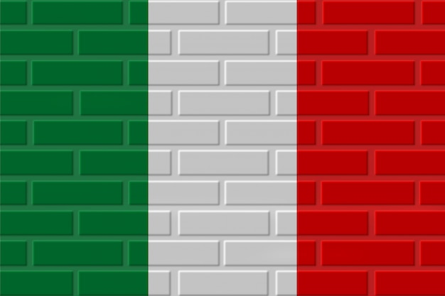 Illustrazione della bandiera del mattone dell'italia