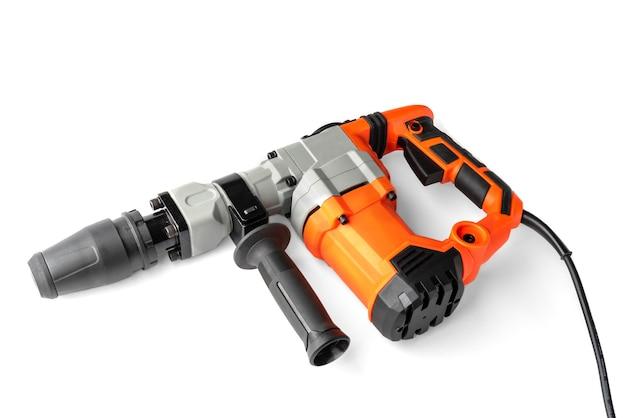 Jackhammer o perforatore isolato su bianco.