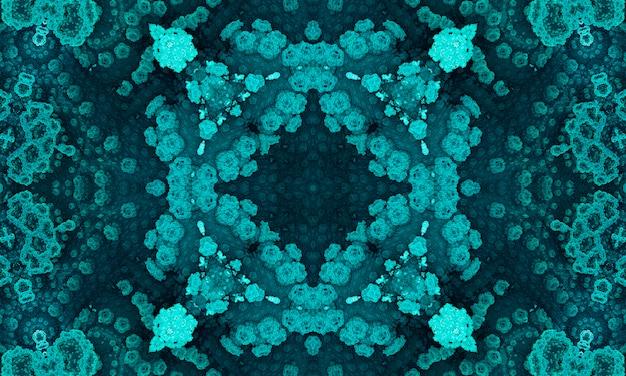 Croce di giada. cuscino geometrico. fondo azteco di ikat della schiuma di mare. senza soluzione di continuità etnica verde oliva.