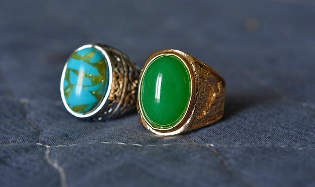 Giada anello d'oro giada