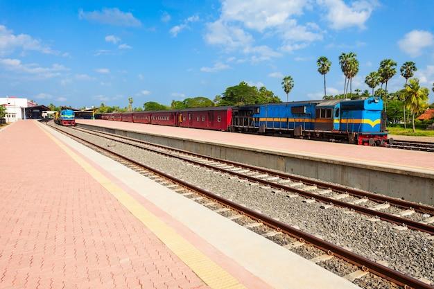 La stazione ferroviaria di jaffna