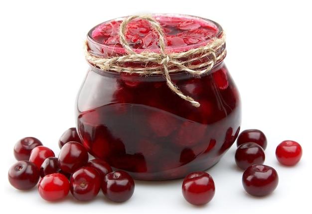 Marmellata di ciliegie da vicino
