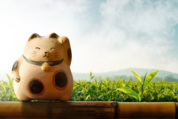 Giappone maneki neko o gatto che chiama