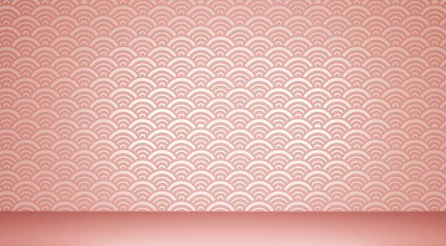 Pavimento del fondo e fondo giapponesi della parete.