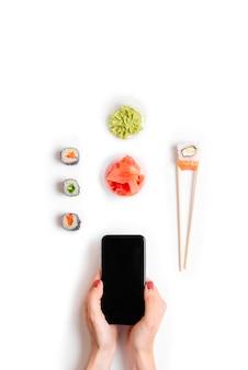 Consegna online di un ristorante giapponese