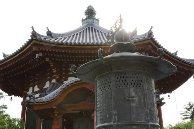 Tempio giapponese nella città di nara