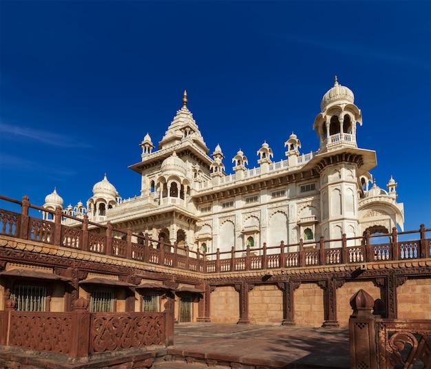 Mausoleo di jaswanth thada, jodhpur, rajasthan, india
