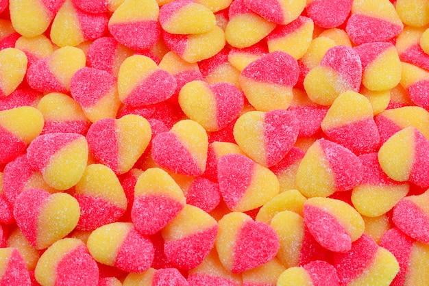 Sfondo di caramelle colorate gelatina