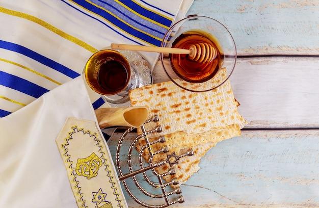 Festa ebraica di hanukkah immagine di basso profilo della festa ebraica di hanukkah con menorah
