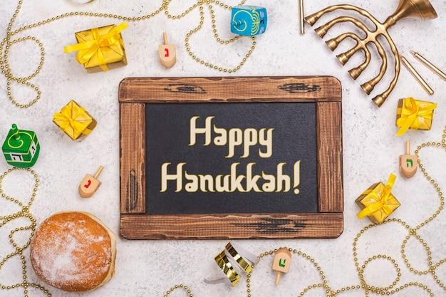 Sfondo festa ebraica di hanukkah