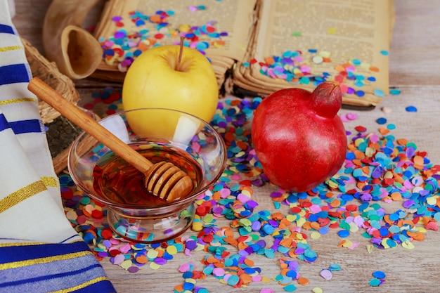 Celebrazione di rosh hashanah per le vacanze di capodanno ebraico