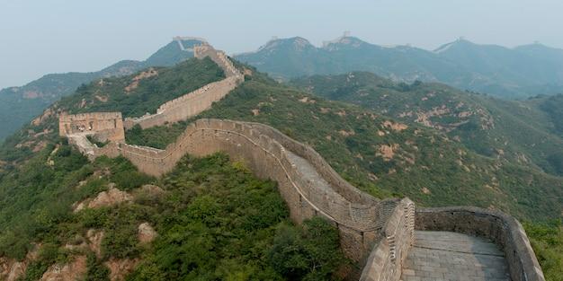 Jinshanling alla sezione simatai della grande muraglia cinese, miyun county, pechino, cina