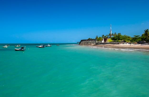 Joao pessoa paraiba brasile tambau spiaggia con le sue acque turchesi