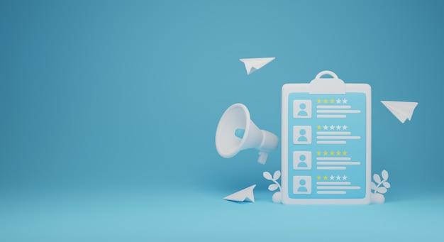L'assunzione di lavoro 3d rende l'illustrazione. buono per banner e social media