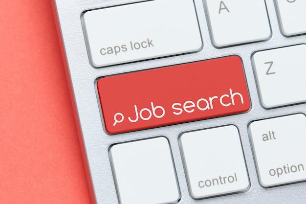 Concetto di ricerca di lavoro sul pulsante della tastiera