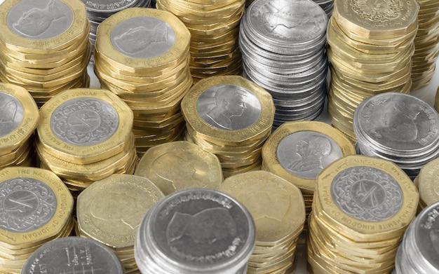 Priorità bassa delle monete di valuta giordana