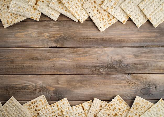 Il giudaismo ebraico religioso matza festività sulla pasqua, copia dello spazio