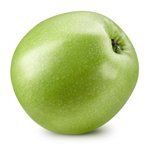 Mele fresche succose. mele verdi isolate su bianco