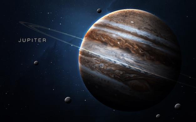Giove nello spazio, illustrazione 3d. .