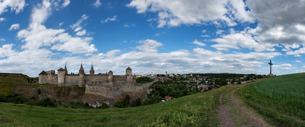 Castello di kamianets-podilskyi in ucraina