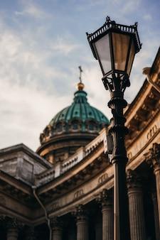 Cattedrale di kazan a san pietroburgo, grande architettura, monumento storico